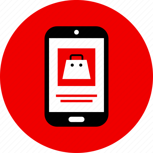 mobile, phone, shopping icon