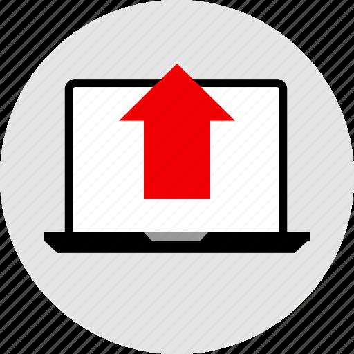 arrow, high, sales, up icon