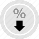 low, rate, shop icon