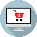 cart, mac, monitor, online, pc, shop, shopping icon