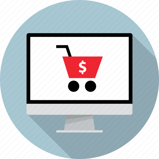 cart, mac, monitor, online, pc, shop, shopping icon
