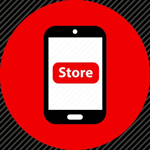 buy, phone, store icon