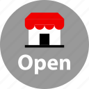 open, store, web icon