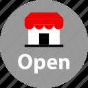 open, store, web icon