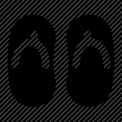 fliflop, foot wear, sandals, slippers, summer icon