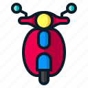 delivery, motorbike, motorcycle, scooter bike, transport, vespa icon