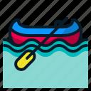 boat, canoe, kayak, rowboat, transport, vehicle icon