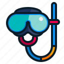 dive, diving goggles, glasses, mask, sports icon