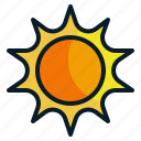 shine, summer, sun, sunlight, sunny, weather icon