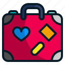 briefcase, holiday, luggage, suitcase, tourism, travel icon