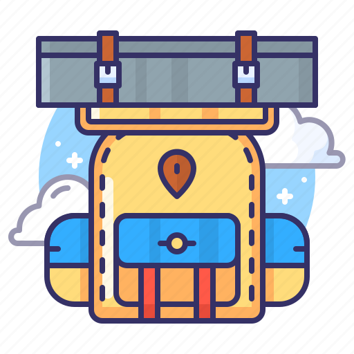 adventure, backpack, bag, camping icon