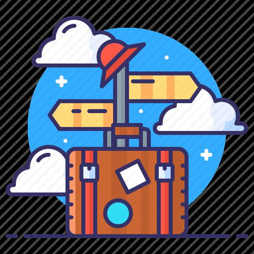 bag, luggage, sign, travel icon