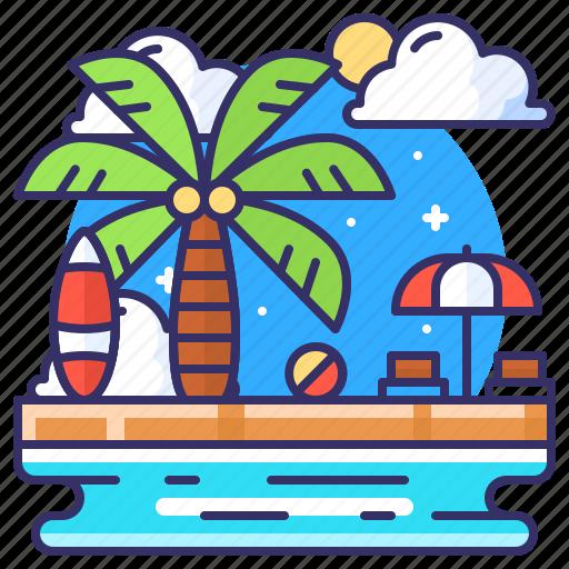 beach, party, summer, sunbath icon