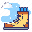 boot, footwear, shoe, tracking icon