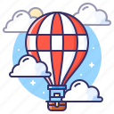 balloon, gondola, hot air balloon icon