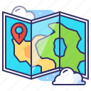 adventure, location, map, marker icon