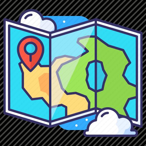 adventure, location, map, marker icon