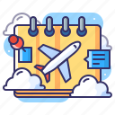 calendar, itenenary, plan, schedule icon