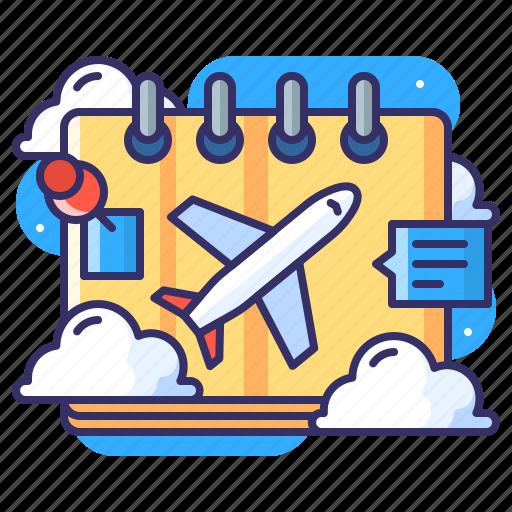 calendar, itenenary, plan, schedule icon