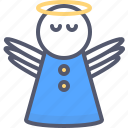angel, christian, kindness, moral, religion, wonder icon
