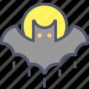 animal, bat, bird, dark, fear, halloween, night icon