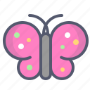 butterfly, easter, spring, worm icon