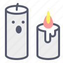 candle, death, fire, halloween