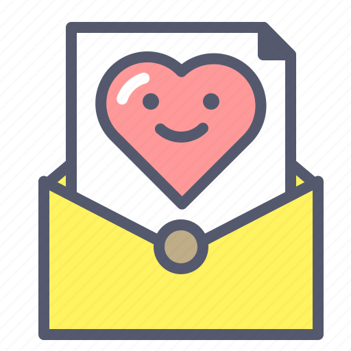 evenlope love mail message romance words icon