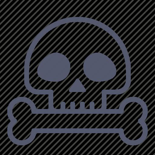 Bone, death, halloween, rip, skull icon - Download on Iconfinder