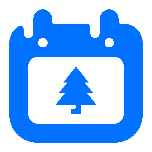 calendar, christmas, date, tree icon