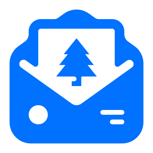 christmas, email, message, tree icon