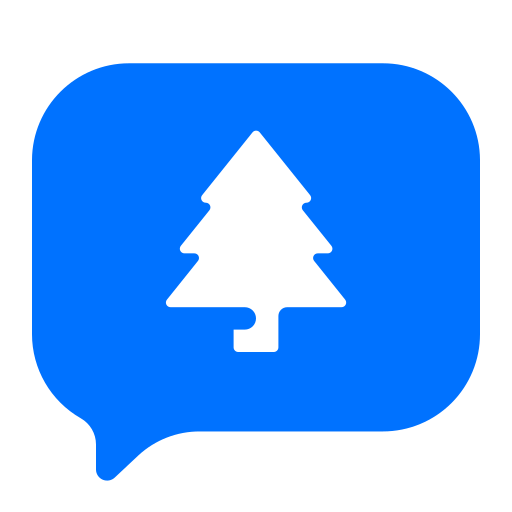 chat, christmas, message, tree icon