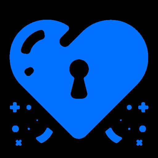 heart, lock, love, security icon