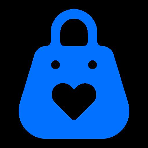 bag, heart, shopping, valentine icon