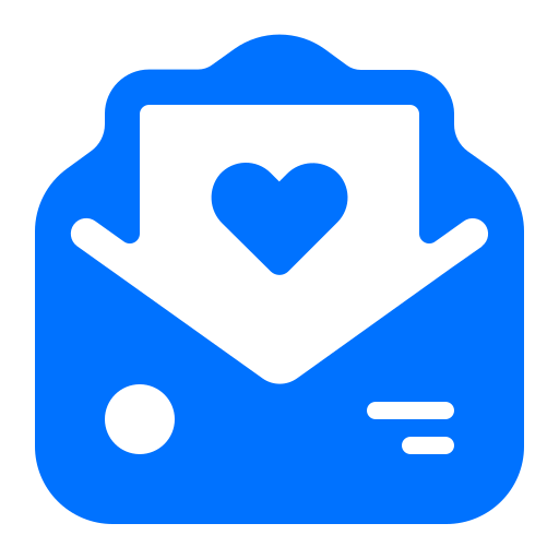 email, heart, message, valentine icon