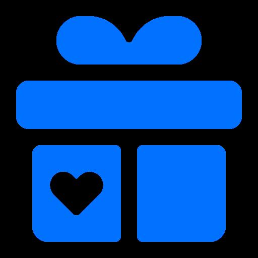 gift, heart, present, valentine icon
