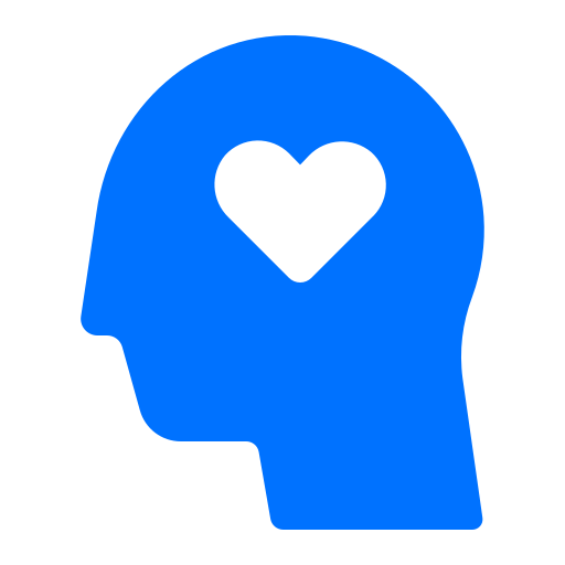heart, mind, thought, valentine icon