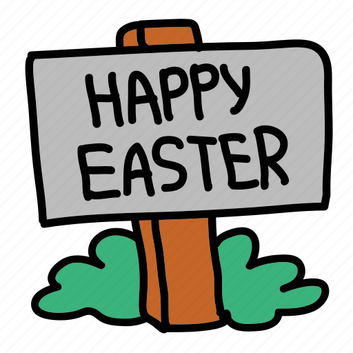 easter, holiday, road sign, sign icon