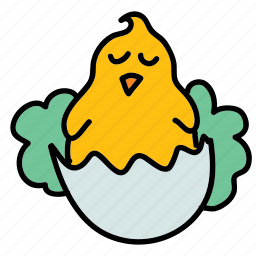 chick, chicken, easter, egg, holiday icon