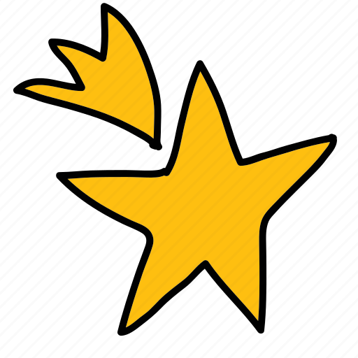 shining, shooting star, star icon