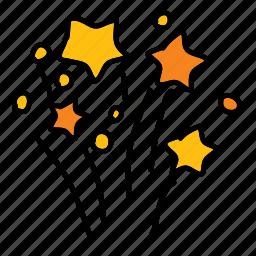 birthday, festival, party, splash, stars icon