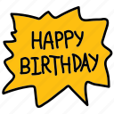 birthday, bubble, happy birthday, splash icon