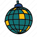 ball, disco, disco ball, light, party icon