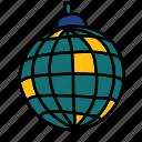 ball, disco, disco ball, light, party icon