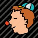 circus, clown, party icon
