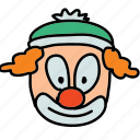 circus, clown, funny, happy icon