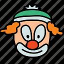 circus, clown, funny, happy icon