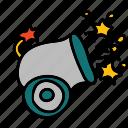 cannon, circus, shooting icon