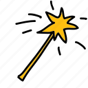 magic, star, wand icon