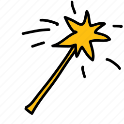 magic, star, wand icon